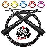AMZOON Springseil Fitness Springseile Skipping Rope Crossfit Erwachsene Sprungseil Tennis Sprungseil (Black)