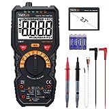 Digital Multimeter, Tacklife DM07 Digital Multimeter mit Auto Range, 6000 Counts Messgerät für AC Signal, AC/DC Spannung, Strom, Temperatur, großer LCD-Bildschirm mit Hintergrundbeleuchtung