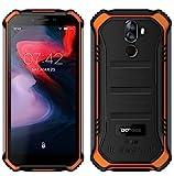 DOOGEE S40 (3GB+32GB) Robustes 4G Android 9,0 Handy ohne Vertrag,5,5' HD (Gorilla Glass 4) IP68 Outdoor wasserdichtes Telephone DUAL SIM Militär Smartphone, 4650mAh Akku, Quadcore 1,5GHz NFC - Orange