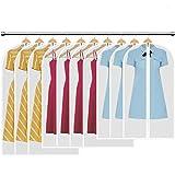HBselect 10 stück Kleidersack transparente Kleiderhüllenmit Reißverschluss wasserfeste mottensichere staubdichte Anzugsäcke 3 x M (80x60 cm) 4 x L (100 * 60 cm) 3 x XL (120x60 cm)