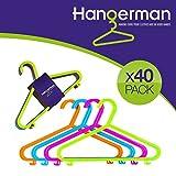 Hangerman – 40Kunststoff-Kleiderbügel für Kinderkleidung