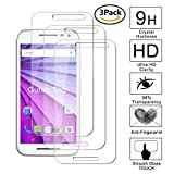 Guran [3 Stück Displayschutz Glasfolie für Motorola Moto G3 Smartphone Hartglas Schutzfolie Film Kompatibel Panzerglasfolie