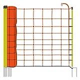 50m Elektrozaun-Netz von VOSS.farming, 108cm, 2 Spitzen, gelbe Pfähle Schafzaun Elektrozaun Weidezaun