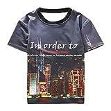 Men's Compression Shirt Rundhals-Shirt mit halben Ärmeln Koreanische Version der Gezeitenkarte mit halben Ärmeln, L