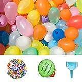 Elegear Wasserbomben Wasserballons 201 Pack Wasser Bomben Luftballons bunt 【Design PATENT】 Schnellfüller,Wasserbombenfüllstation Water Balloons für Wasserbombenschleuder
