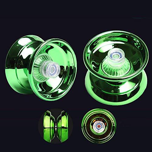 Zorara YoYo, Anfängerhandtasche und Handschuhe und 5 Saiten, Geeignet für Kinder- und Erwachsenenspielzeug, Metall (grün) (grün)