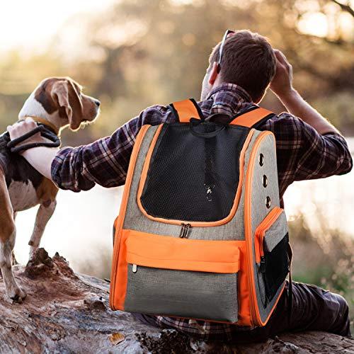 Legendog Hund Rucksäcke, Haustier Reiserucksack, Doppelte Schultergurte Haustier-Träger-Beutel, Transport Tasche für Katzen Hunde, 37,5 cm x 26,5 cm x 43 cm