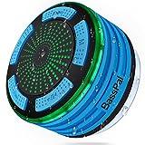 BassPal Dusche Lautsprecher, wasserdicht IPX7 Tragbare Wireless Bluetooth 4.0 Lautsprecher mit Super Bass und HD Sound, perfekte Lautsprecher für Strand, Pool, Küche & Home