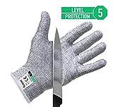 Twinzee Schnittschutz-Handschuhe (1 Paar) – Extra Starker Level 5 Schutz, EN-388 Zertifiziert, Lebensmittelecht – Hochwertig und Leicht, für alle Zwecke - Perfekte Passform (Medium)