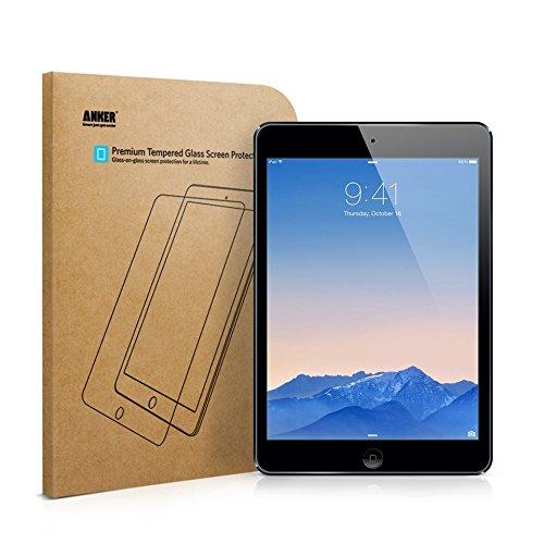 iPad Air Displayschutz, Anker Premium Hartglas Displayschutz für iPad Air/ iPad Air 2 / iPad Pro 9.7' / New iPad 9.7' (2017) / iPad 9.7' (2018) mit einer Härte von 9H und Einfacher Anbringung