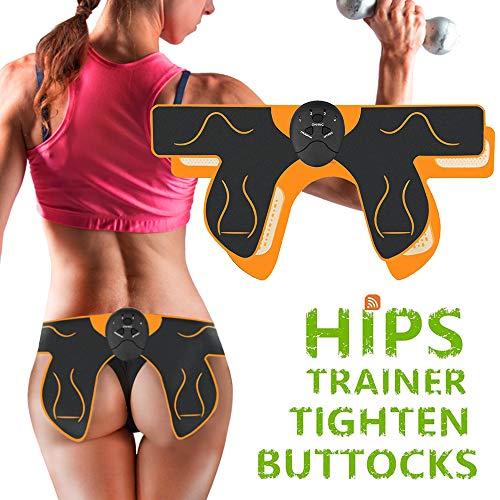 EMS Trainingsgerät zur gezielten Stimulation der Po Muskulatur - Muskelaufbau, EMS Hüfttrainer - Elektro Stimulationsgerät Po Muskeln für Herren Damen 6 Modi
