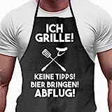 Grillschürze Ich grille - Lustiges Geschenk für Männer und Grillmeister