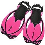 AQUAZON Sidney Verstellbare Flossen für Kinder und Jugendliche, Size:27/31, Colour:pink