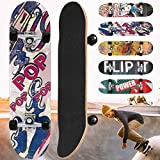 Physionics Skateboard - 31' (78,7cm), Kugellager: ABEC 5, Designwahl - Retro-Board, Mini Cruiser, Cruiser Board, Komplettboard