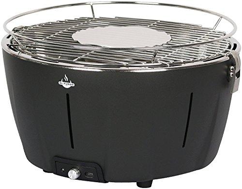 Holzkohlegrill 'Tulsa' von El Fuego Grill BBQ Barbecue, USB-Anschluss, Batterie, Rauchfreies Grillen, inkl. Tragetasche AY 5251