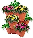 UPP Pflanzturm 3er Set Stapelbar/ Blumentopf/ Pflanztopf/ Pflanzgefäß /Kräutertopf