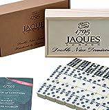 Für größere Ansicht auf das Bild klicken Domino - Club Double Nine Domino in einer hölzernen Folie Deckel D9 Box - Jaques von London