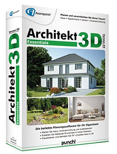 Architekt 3D X9 Professional - Planen Sie Ihr Eigenheim daheim am PC ganz einfach selbst! Windows 10, 8, 7, Vista [Download]