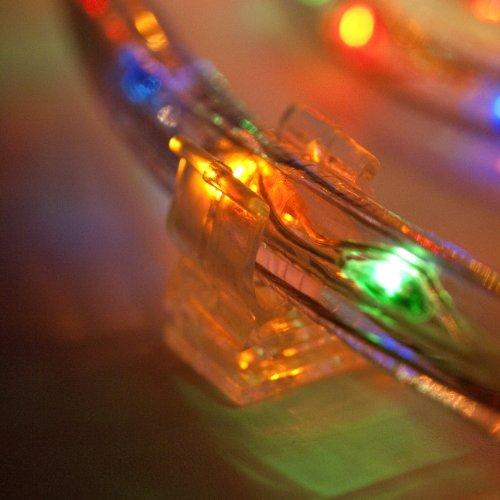 50er Set Lichtschlauch Befestigungsclips Montagehalterung 13mm Lights4fun