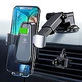 Handyhalter fürs Auto Wireless Charger Auto Handyhalterung Auto Kfz Handyhalterung 10W Qi Ladestation Auto Wireless Car Charger für iPhone XS Max/X/XR/8 Plus, Samsung Galaxy S10/S9/S8/S7/S6 usw.