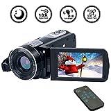 Camcorder Videokamera Full HD 1080p 18-Fach Zoom Digitalkamera mit Pausen- und Wiedergabefunktionen