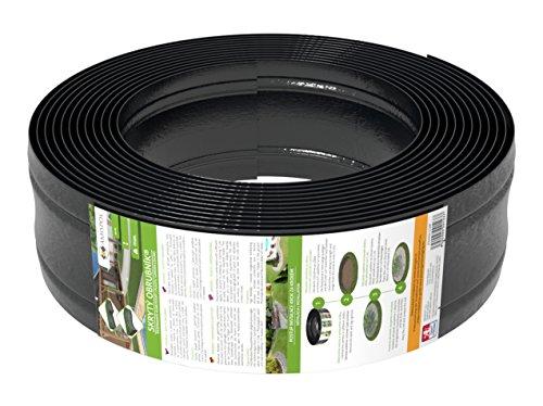 12m Rasenkante Kunststoff von AMISPOL - 125/4mm, Beetumrandung, Beeteinfassung, Mähkante