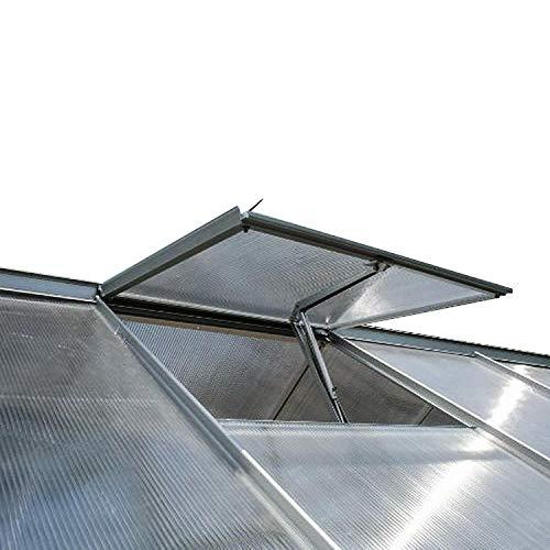 Spetan Automatischer Fensteröffner für Gewächshaus, Fensterheber durch Temperaturgesteuert Hubkraft7 kg, Hubhöhe 40 cm