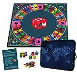 Alleswisser - Das Brettspiel, interaktives Quiz-, Wissens- und Familienspiel mit App für iOS und Android mit Tasche im Erdkunde & Länder-Layout