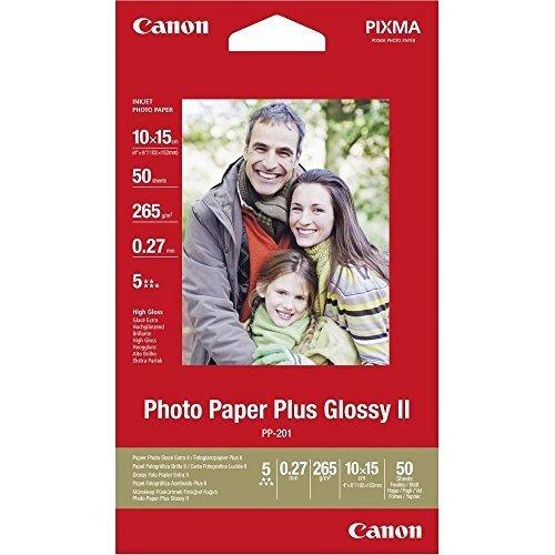 Canon 2311B003 PP-201 plus photo paper inkjet 265g/m2 10x15 cm 50 Blatt Pack