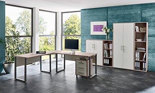 Büromöbel komplett Set Bürokombination OFFICE EDITION in Sandeiche - Made in Germany - (Set 4)