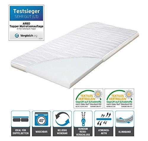 Topper, Matratzenauflage, Kaltschaum 7cm oder 10cm, alle Größen - Schlafen wie auf Wolken H2 + H3 … (H3 - 7cm, 90x200)