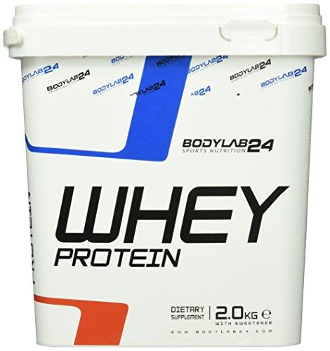 Bodylab24 Whey Protein Eiweißpulver, Geschmack: Schoko, hochwertiges Proteinpulver, Low Carb Eiweiß-Shake für Muskelaufbau und Fitness, 2000g