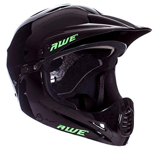 AWE BMX Full Face Helm schwarz, Größe M 54–58 cm