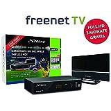 Strong SRT 8541 Full-HD-HEVC-DVB-T2 Receiver mit Antenne, freenet-TV (HDTV, HDMI, LAN, Scart, Dolby, Mediaplayer) Starter-Set Schwarz