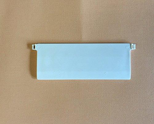 cg-sonnenschutz 10 Stück Beschwerungsplatten Breite 127 mm Gewichte für Vertikaljalousie Lamellen Vorhang Vorhang-Lamellen 127 mm weiß ais Kunststoff