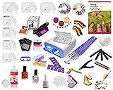 Nagelstudio Starterset UV Gel Set Inkl. Nagelfräser UV Lampe Nailart ist ein ideales Gel Nagel Set für künstliche Fingernägel und Anfänger mit UV Farbgel, Nail Art, Nail Polish, French Nails uvm.