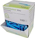 Einmalrasierer Einwegrasierer Farbe blau Medi-Inn(einschneidig,Menge: 100 Stück)