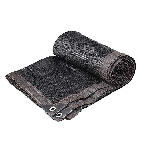 FAMLYJK Sunblock-Sonnenschutztuch mit Klebeband mit Ösen Sun-Block-Schirm für Pflanzenschutzgitter für Pergola-Abdeckung, schwarz,19.6ft*29.5ft
