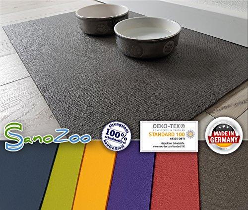 SanoZoo Napfunterlage - Öko TEX - Made in Germany 40 x 60 cm Grau