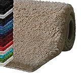 casa pura Badematte Hochflor Sky Soft | Weicher, Flauschiger Badezimmerteppich in Shaggy-Optik | Badvorleger Rutschfest waschbar | Öko-Tex 100 Zertifiziert | 16 Farben in 6 Größen