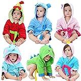 FHKL Kinder Badetuch Robe Kinder Mit Kapuze Strand Schwimmen Poncho Kreative Baby Bademäntel (Geeignet Für 80-100 cm),A