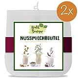 2x Nussmilchbeutel | Passiertuch | Filterbeutel Set für vegane Milchalternativen wie Nussmilch, Mandelmilch, Frucht-/Gemüsesaft und Smoothies | Health Boutique