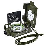 Neosteck tragbarer Militär Marschkompass Professioneller Militär Beobachtungskompass mit Neigungsmesser für Jagd Wandern und Aktivitäten im Freien