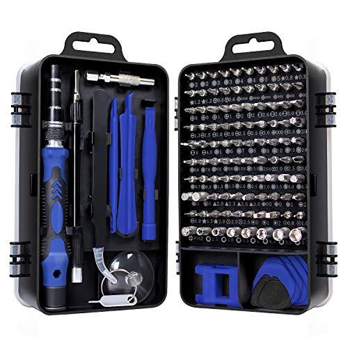 Gocheer Mini Schraubendreher Set, 115 in 1 Feinmechaniker Set Torx Bit Präzisionsschraubendreher Set für iPhone,Laptop,Tablet,Uhren,Kamera,Elektronik Set