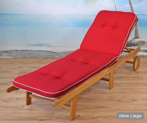2 Liegenauflagen Tomiro 50077-33 in rot 189 x 60 x 6 cm (ohne Holzliege!)