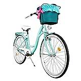 Milord. 2018 Komfort Fahrrad mit Korb, Hollandrad, Damenfahrrad, 3-Gang, Aqua Blau, 28 Zoll