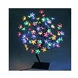 72er LED Baum 45cm Hoch Kirschbaum Lichterbaum Baum Weihnachten Innen(Bunt)