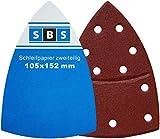 60 Stück Klett-Schleifblätter 105x152 mm Körnung je 10 x Korn 40/60/80/120/180/240 für Multischleifer Bosch Prio, Ventaro