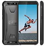 Blackview BV5500 Outdoor Handy, IP68 Wasserdicht 5,5 FHD 18:9 Bildschirm, 4400 mAh großer Akku, 16GB ROM Android 8.1 Robustes Smartphone, 8MP+0.3MP Dual Kamera, Gesicht entsperren/GPS (Schwarz)