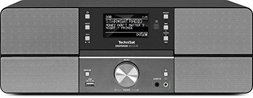 TechniSat DIGITRADIO 361 CD IR / Digital-Radio mit CD-Player, Internetradio, DAB+, UKW, CD-Player, USB, Bluetooth, LAN, WLAN, UPnP Audio-Streaming, Wecker, 2 Weckzeiten, Sleeptimer, 2x 5 Watt, anthrazit